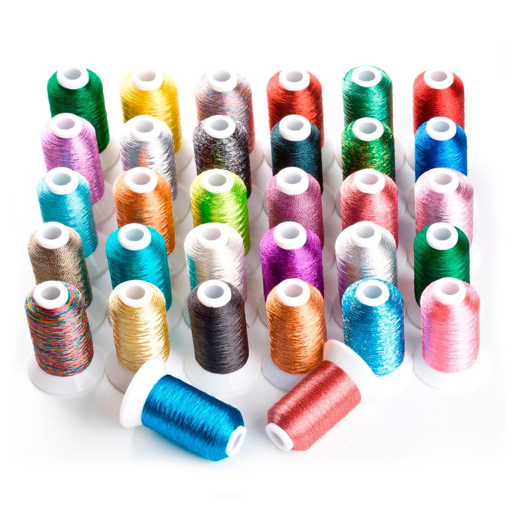 Popularne 32 boje metalne niti za vezenje, svaka po 500 metara za bilo koji stroj za vez