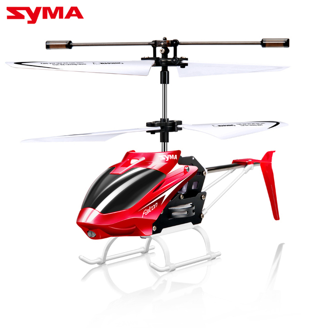Official Original Syma W25 2 CH 2 Channel Mini RC Helicopter RC Drone With Gyro Crash Resistant RC Toys Kids Boy Gift Red Yellow
