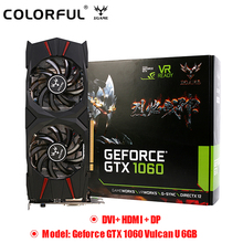Original Colorful GeForce IGame GTX 1060 Vulcan U 6GB Video Graphics Card 192bit GDDR5 PCI E