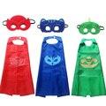 Pjmasks Nuevo 2 unids/set PJ Máscaras de capa y Máscara de juego de Roles Owlette Catboy Gecko Cosplay Juguetes de Acción Para niños