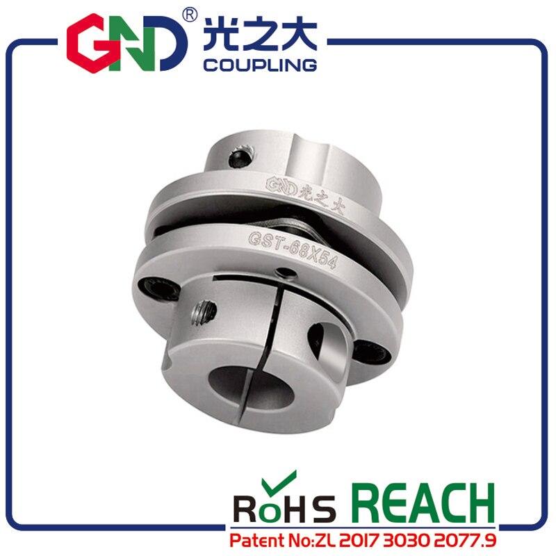 GND coupling aluminum alloy single diaphragm coupler GST D39L34.5 disc setscrew series flexible shaft motor kaplin quick couples