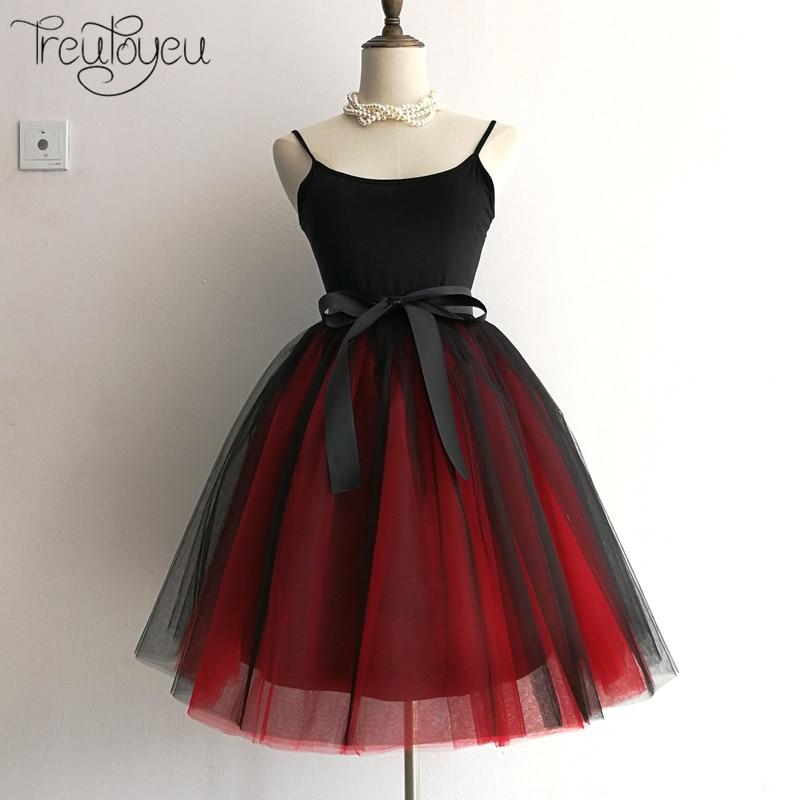 7 camadas 65cm longo saia feminina princesa tutu tule saias moda vestido de baile lolita saia verão saias femininas faldas jupe