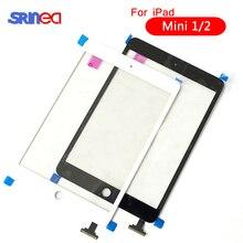 AAAAA dla iPad Mini 1 Mini 2 A1432 A1454 A1455 A1489 A1490 A149 ekran dotykowy Digitizer czujnik + IC Chip złącze Flex + klucz przycisk