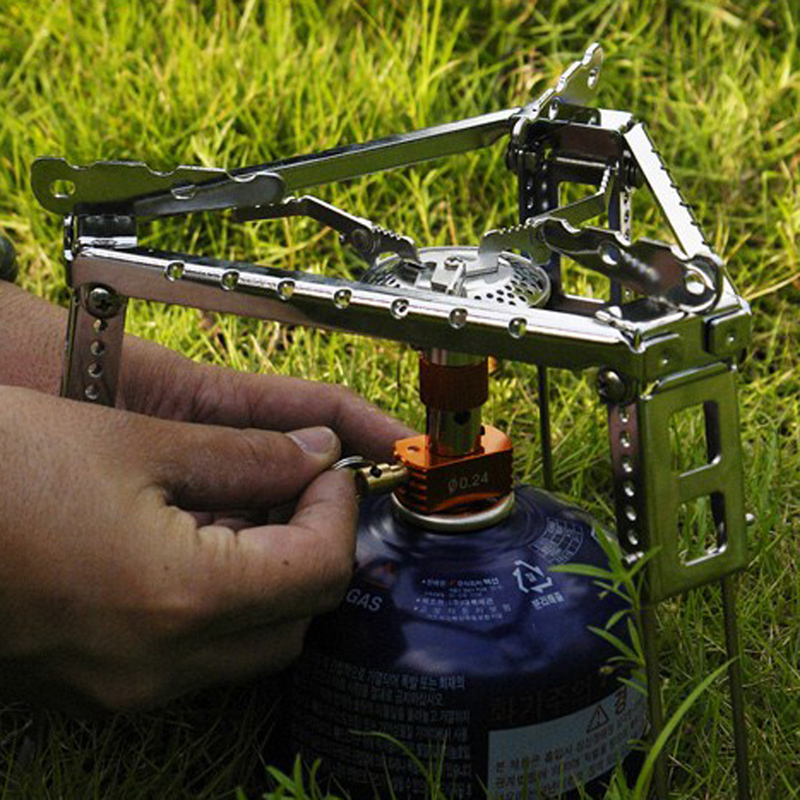 18 X 16cm Mini Portable Outdoor Camping Stove Stand Shelf Camping Cooking Folding Triangle Bracket Pot Stove Stent