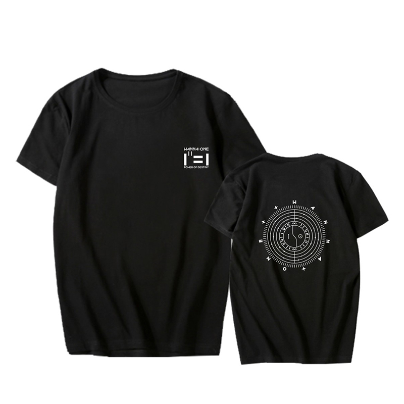 KPOP WANNA ONE Album Power of Destiny Tees Hip Hop Tshirt T Shirt Short Sleeve Tops T-shirts PT1003