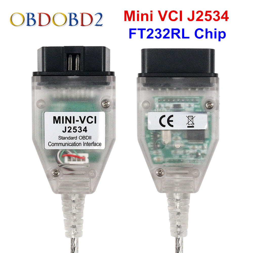 Latest Mini VCI V14.20.019 For Toyota TIS Techstream Mini VCI J2534 Car Diagnostic Cables And Connectors Mini VCI Interface