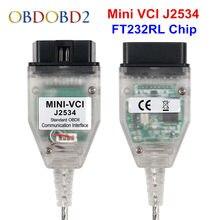Mais recente mini vci v15.00.028 para toyota tis techstream mini vci j2534 cabos e conectores de diagnóstico do carro mini relação vci