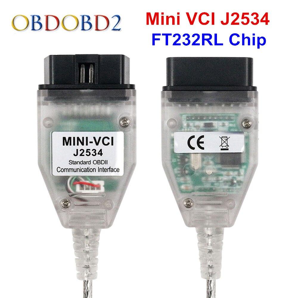 V13.00.022 mais recente Mini VCI Para Toyota TIS Techstream Mini VCI J2534 Cabos De Diagnóstico De Automóveis e Conectores de Interface Mini VCI
