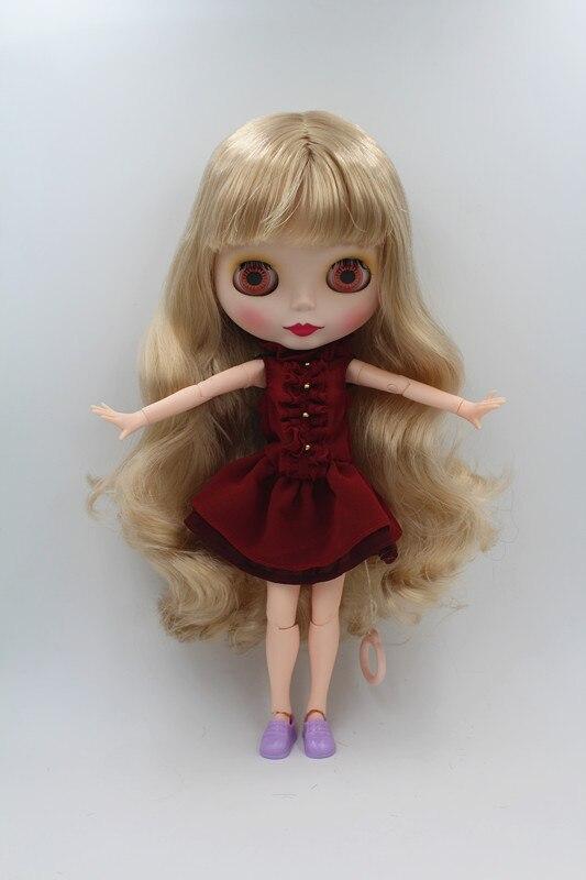 Blygirl Doll Light golden flequillo pelo Blythe conjunta cuerpo Doll - Muñecas y accesorios - foto 4