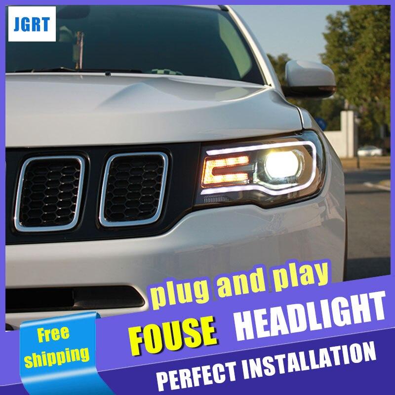 Style de voiture pour Jeep compas phares assemblage 2017-2018 pour boussole LED xénon H7 avec hid kit 2 pièces.