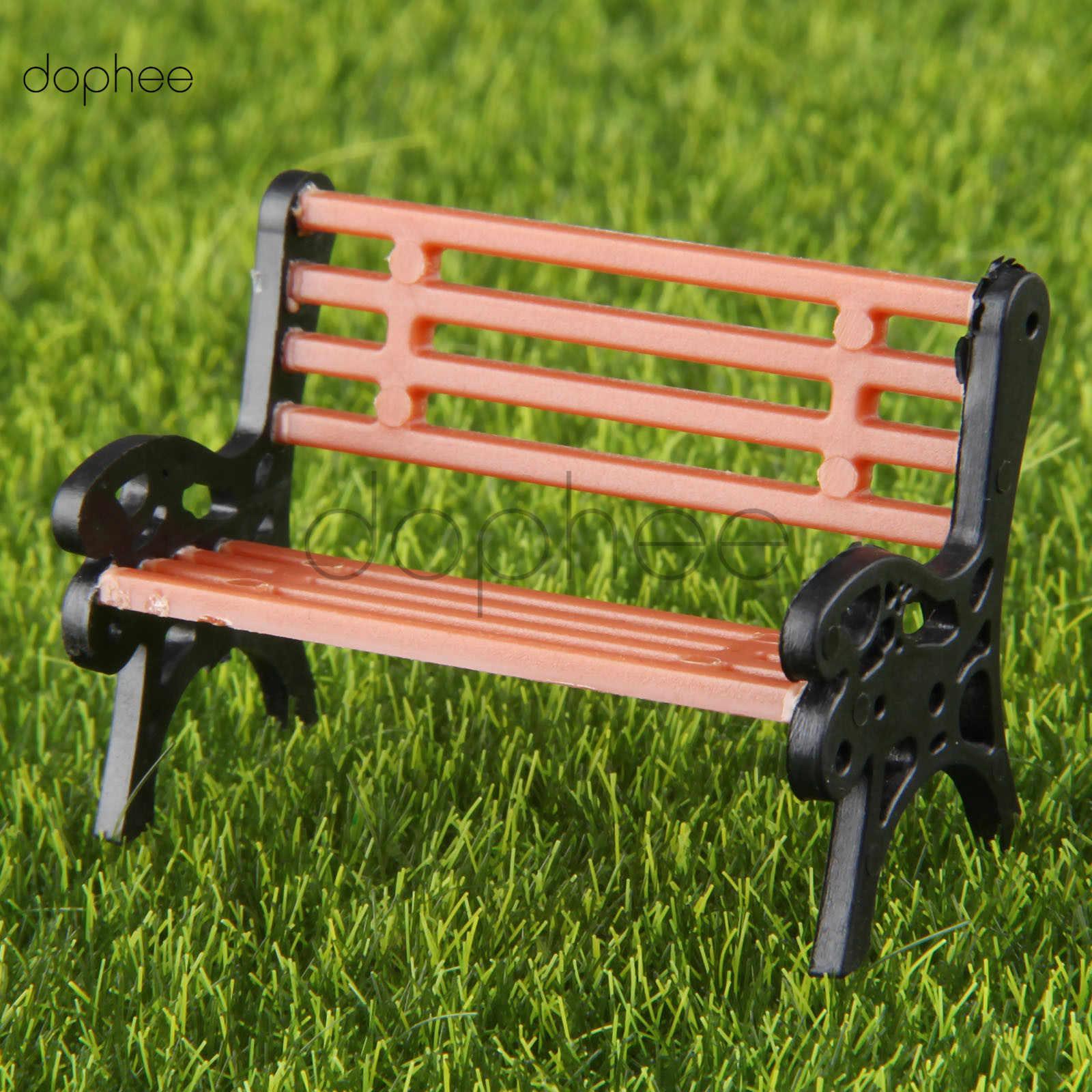 Awesome Dophee 5Pcs Model Park Bench 1 30 Mini Garden Ornament Miniature Park Bench Craft Diy House Decor Bench Model Camellatalisay Diy Chair Ideas Camellatalisaycom