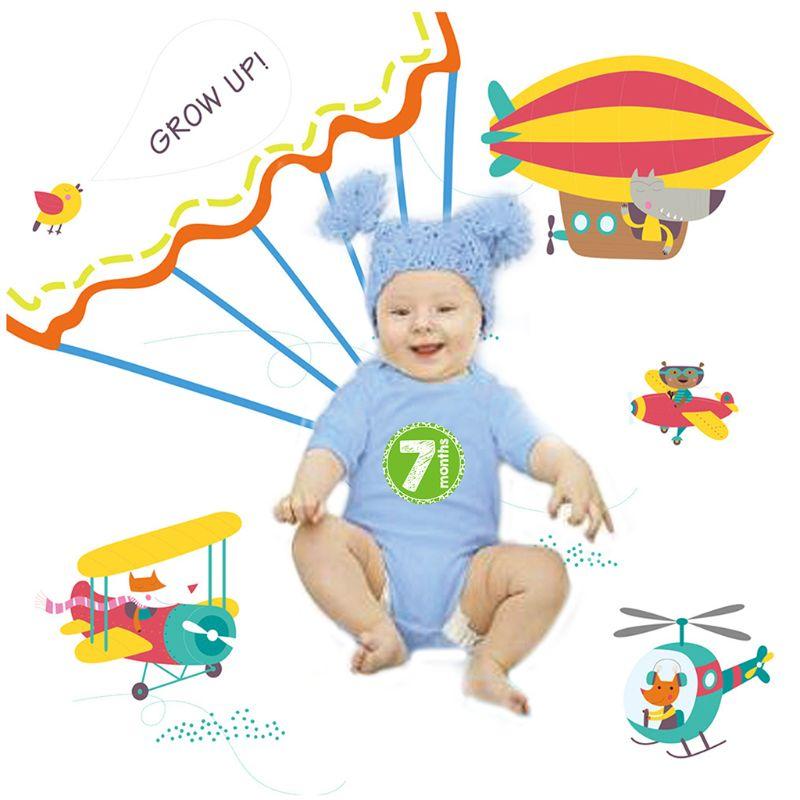 1 Set Newborn Photography Props Baby Background Blanket Photo Month Sticker Photos Accessories