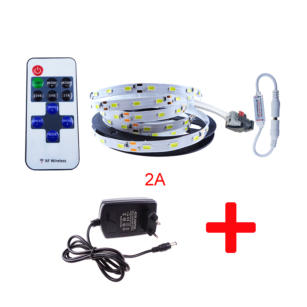 5630 Led strip set SMD flexible light + Controller + Power 5M/lot 300Leds 5730 rope Red Blue Green Warm White room color IL