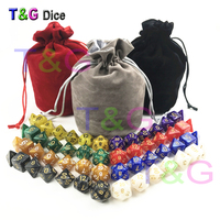 56pcs Bag D D Dice Sets With Pearlized Effect D4 D6 D8 D10 D10 D12 D20