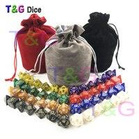 56pcs Bag D D Dice Sets With Pearlized Effect D4 D6 D8 D10 D10 D12 D20