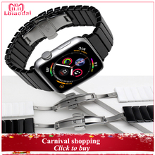 Ceramic Strap for Apple Watch Band 4 44mm 40mm iwatch band 42mm 38mm bracelet watch strap watchband butterfly belt Series 4 3 21 цена и фото