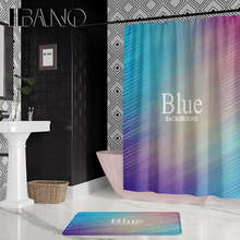 IBANO Letter Background Shower Curtain Waterproof Polyester Fabric 180x180cm Bath 40x60cm Mat For The Bathroom
