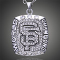 San Francisco 49 ers Champ hombres collar colgante Rhinestone venta al por mayor Super Bowl réplica Souvenir Jewerly venta D00333