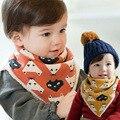 Invierno exclusivo niños vendaje triangular añadir lana caliente privado toalla saliva babero del bebé delantales kawaii slabbetjes bandana scarf