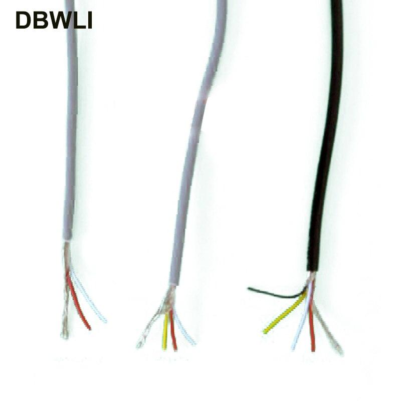 2 3 4 ядра экранированный провод UL 2547 28AWG 5 метров 16,4 футов 2,1 канала аудио кабель сигнала экранированный провод для усилителя, черный серый