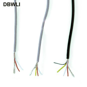2 3 4 rdzeń drut ekranowany UL 2547 28AWG 5 metr 16 4 ft 2 1 kanał linia audio kabel sygnałowy tarcza drut do wzmacniacza czarny szary tanie i dobre opinie DBWLI 2547#28AWG Izolowane Miedzi Stranded Electronic