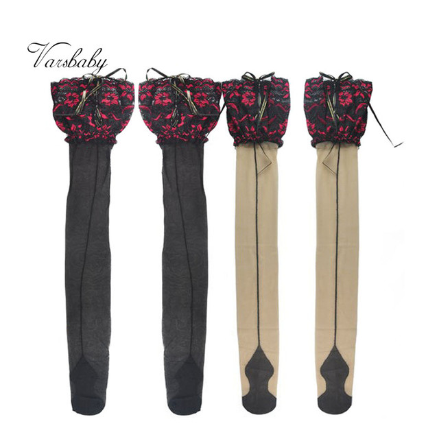 Floral Lace Ultra-Thin Stockings