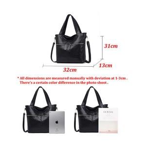 Image 5 - Yonder אמיתי עור תיק לנשים תיק ליידי של תיק גדול קיבולת כתף crossbody תיק באיכות גבוהה tote sac עיקרי femme