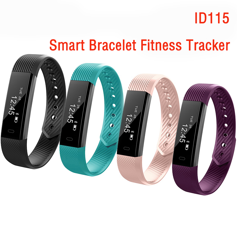 ID115 Smart Bracelet Fitness Tracker Step Counter Fitness Band Alarm Clock Touch Screen Vibration Wristband