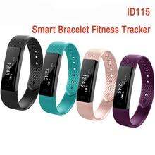 ID115 умный Браслет фитнес-трекер шаг счетчик фитнес-группа будильник Сенсорный экран вибрации браслет