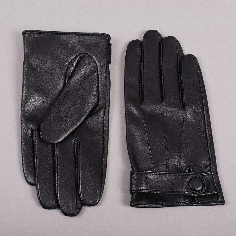 Image 3 - Gours Winter Genuine Leather Gloves Men New Brand Goatskin Black Fashion Driving Touch Screen Gloves Goatskin Mittens GSM036gloves sandgloves mengloves lycra -