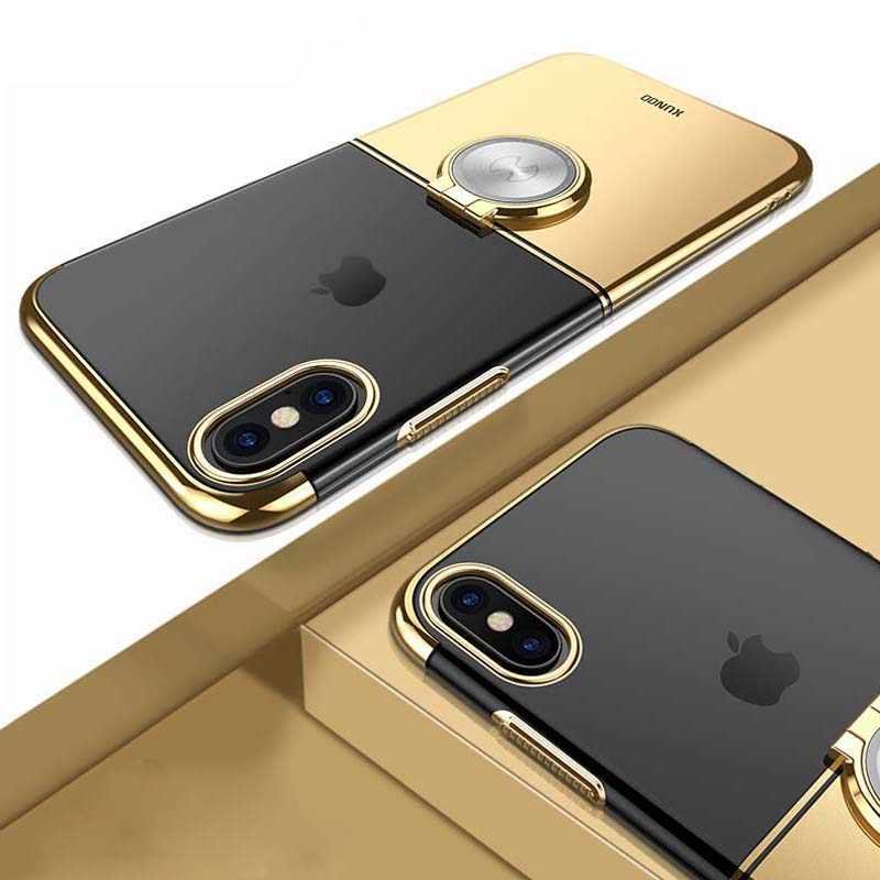 Para o iphone Caso Max XR XS, fivela Anel de luxo Xundd Suporte Rígido PC Caso Capa Protetora para o iphone X XS XS Max Fundas Capa