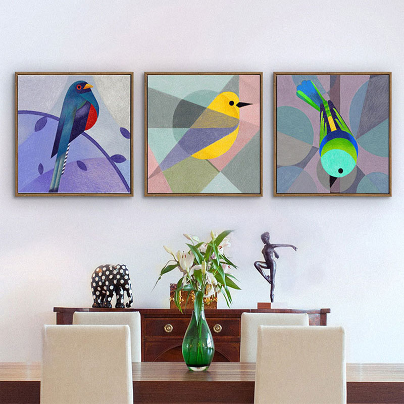HAOCHU Nordic Creative Bird Decorative Painting Modern