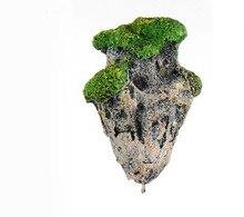 021510  Household aquarium floating aquatic animals landscape stone decoration science made stone artificial grass