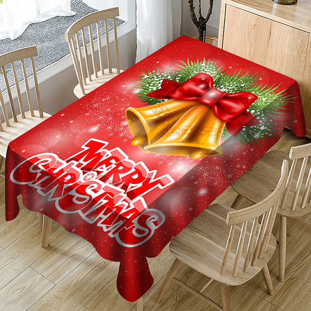 New Year Christmas Tablecloth Kitchen Dining Table ...