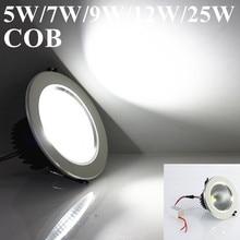 Super 5W/7W/9W/12W/25W LED COB Ceiling Light Cool White/Warm White LED Down Light