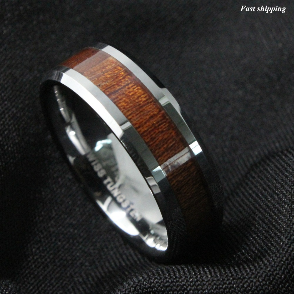 copper and wood wedding rings wooden wedding bands mens And Wood Wedding Rings