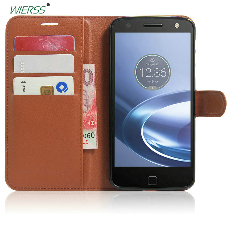 Wallet Flip Leather Case For Motorola <font><b>Moto</b></font> <font><b>Z</b></font> <font><b>Play</b></font>/Droid (<font><b>XT1635</b></font> <font><b>XT1635</b></font>-01) phone back Cover Housing cases with Card Slot+Stand image