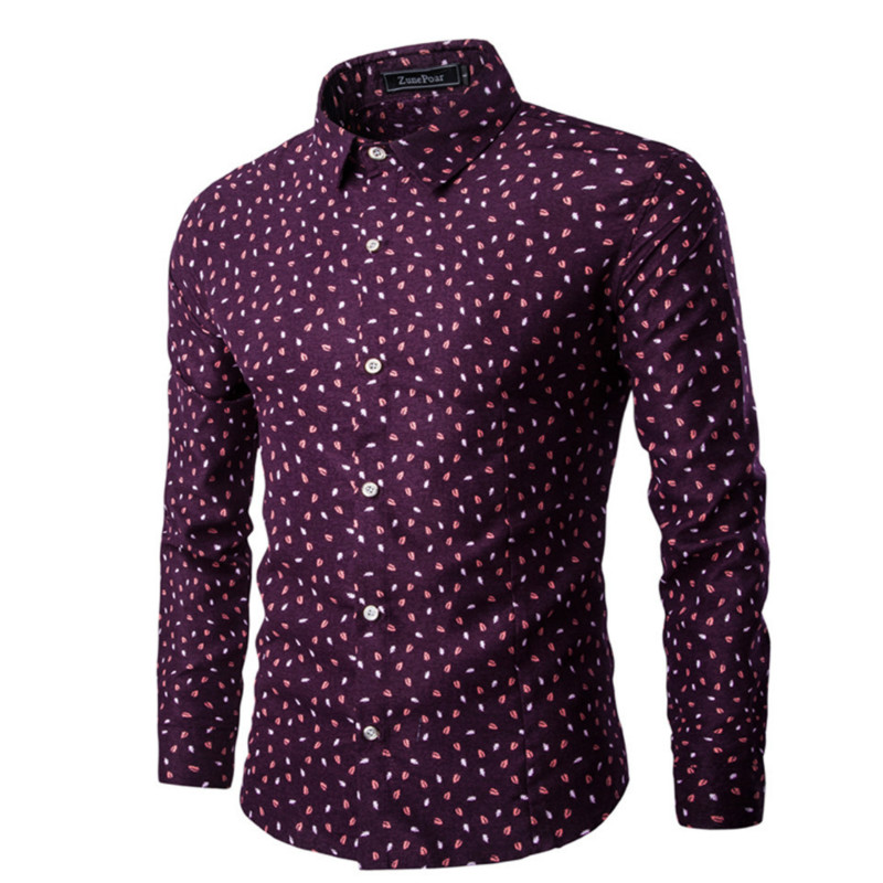 good quality polka dot mens dress shirts 2016 brand