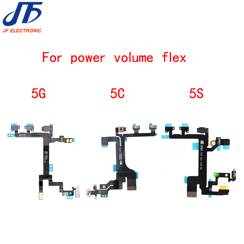 50pcslot Power Button Switch OnOff Flex Cable Replacement Part for iPhone 5 5G 5C 5S free shipping