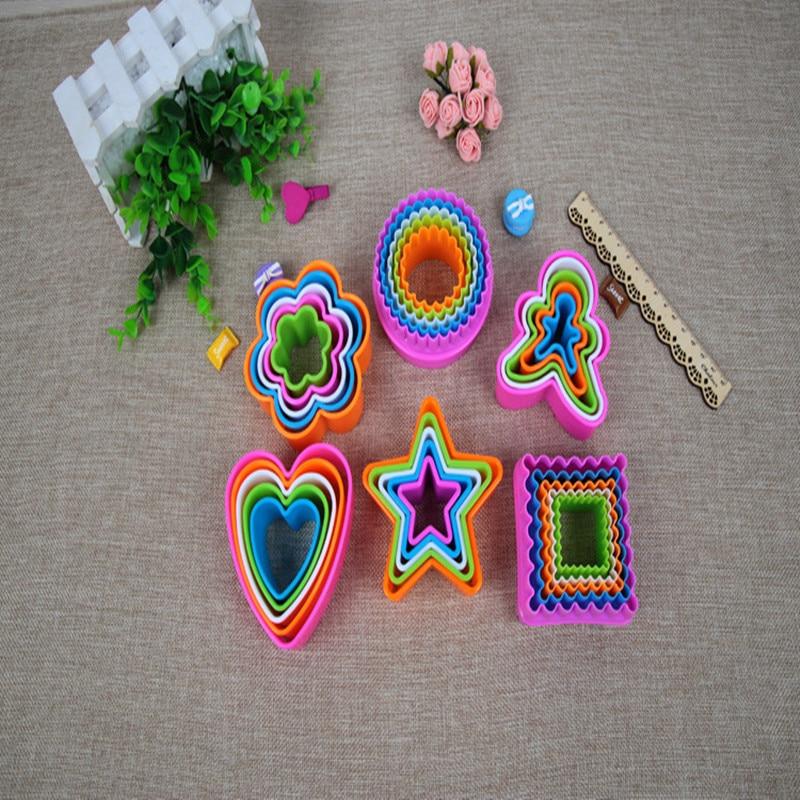 5 шт./компл. печенье резак Рамки помадка бисквитный торт формы DIY Star рождественской елки круглый сердце цветок формы Cookie Maker