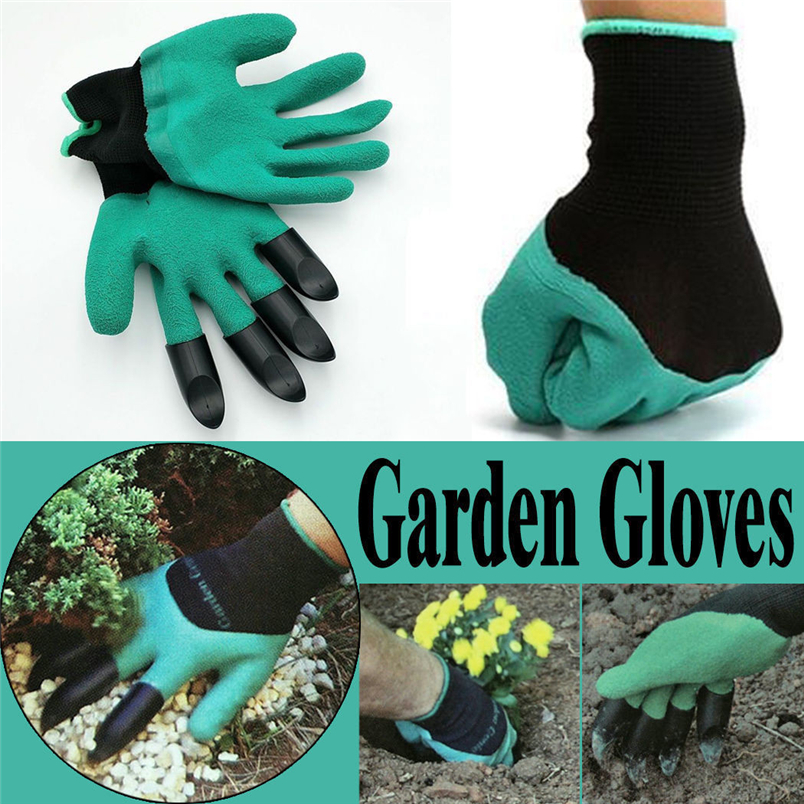 Garden gloves for Dig Planting Rubber Polyester Builders Garden Work ABS Plastic Claws Safety Working Protective Gloves NewGarden gloves for Dig Planting Rubber Polyester Builders Garden Work ABS Plastic Claws Safety Working Protective Gloves New