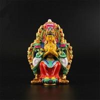 Opening The Light Maitreya Buddha Figurine Car Furnishing Articles Hand Painted Auspicious Bodhisattva Maitreya Crafts Dector