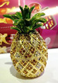 2017 New Pineapple Jeweled Trinket Box Jewelry Box Fruit Shape Secret Compartment Figurine Shiny Crystal Pineapple Display Gifts