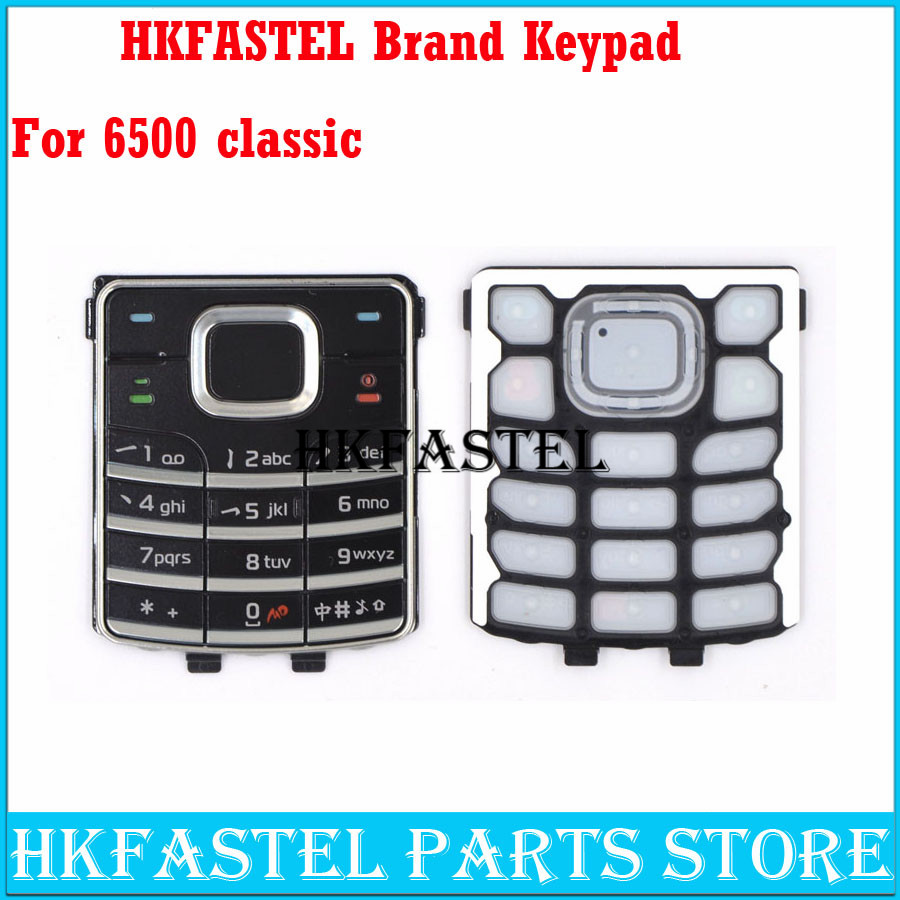 HKFASTEL New Cell phone Keyboard For <font><b>Nokia</b></font> <font><b>6500</b></font> classic 6500c Mobile Phone Housing Keypad Cover Case image