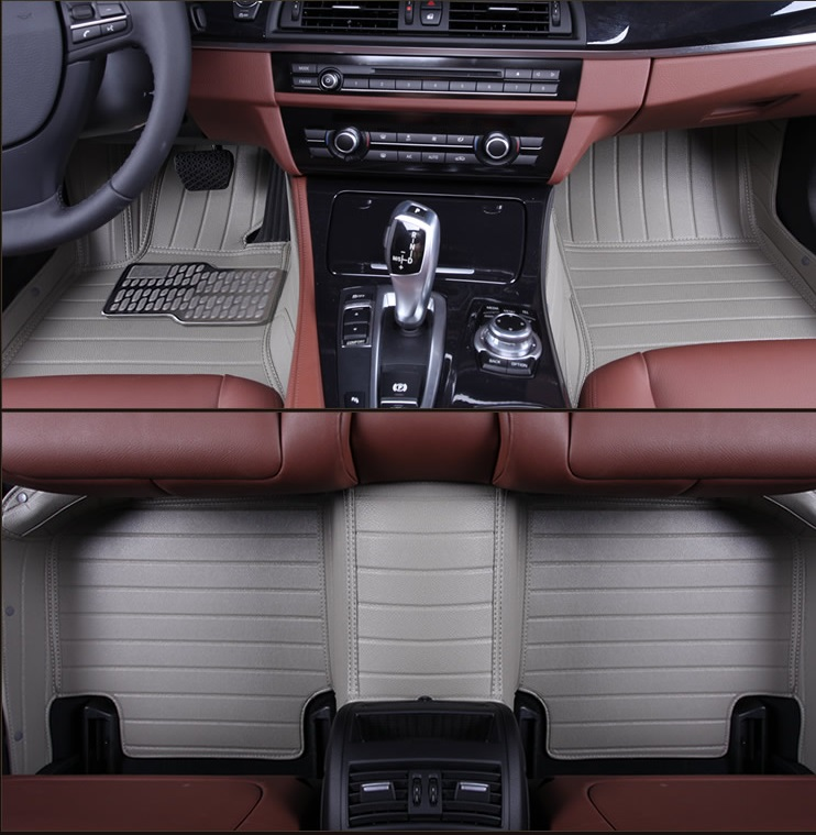 leather car floor mat for Mercedes Benz ML350 400 550 W205 204 S600 S300 S350 S650 floor mat rug