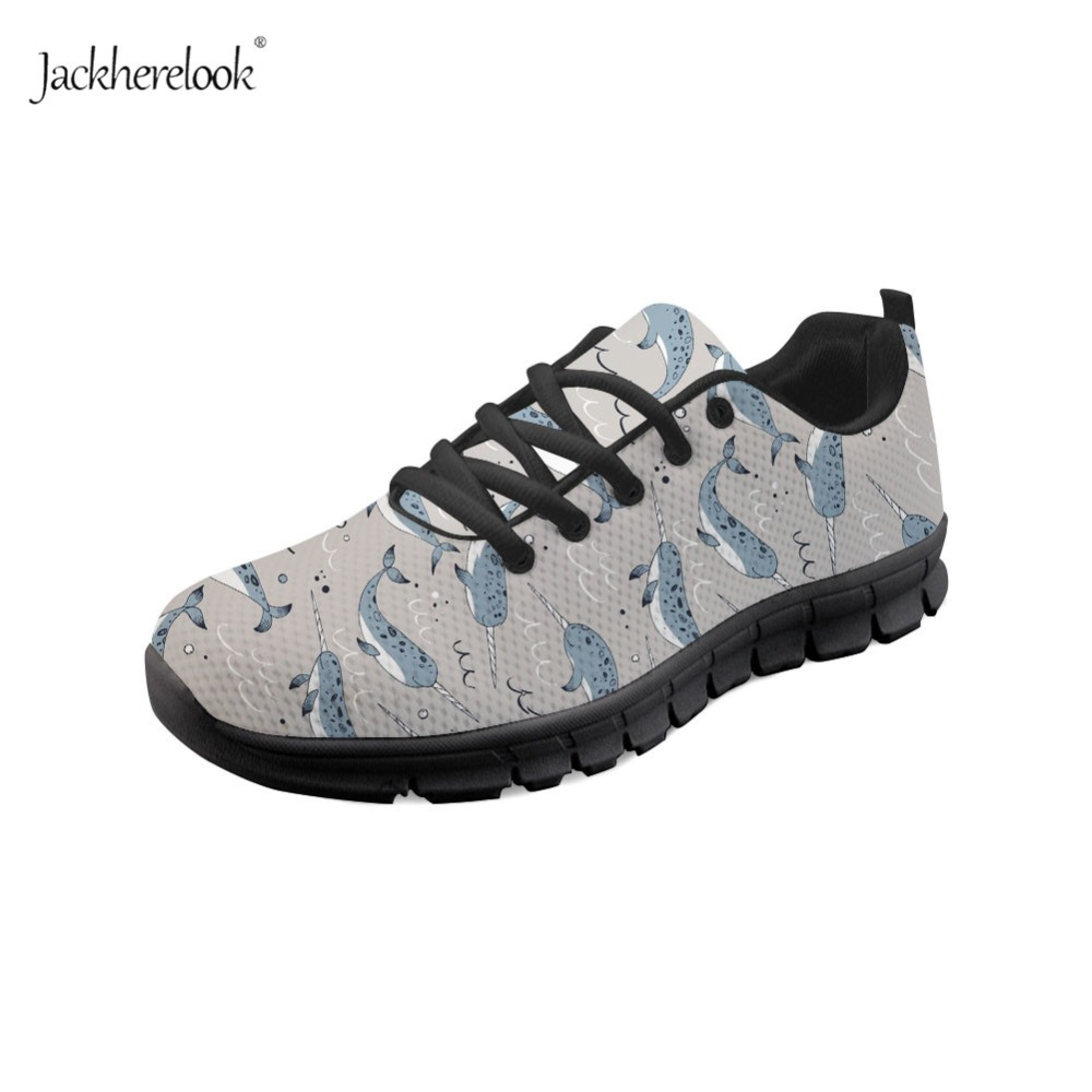 Sneakers 2019 New Style Jackherelook Brand Design Women Sneakers Manatee Whale Party Print Light Running Shoes For Teen Girls Narwhal Sport Fitness Shoe With Traditional Methods Sports & Entertainment
