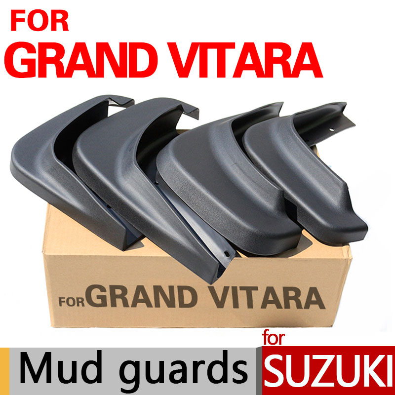 High Quality Mud Flaps For Suzuki Grand Vitara Accessories Mud Guards 2006-2014 2007 2008 2009 2010 2011 2012 2013 Car Styling