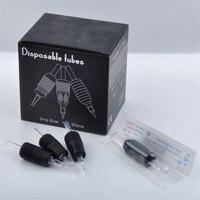 20pcs/Box Black Hexagonal Disposable Round Silicone Tattoo Needles Tube Grips 25MM 7RL