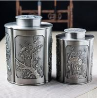 retro metal zinc alloy metal tea storage box tea tin box tea puer tins for tea storage home decoration CYG04