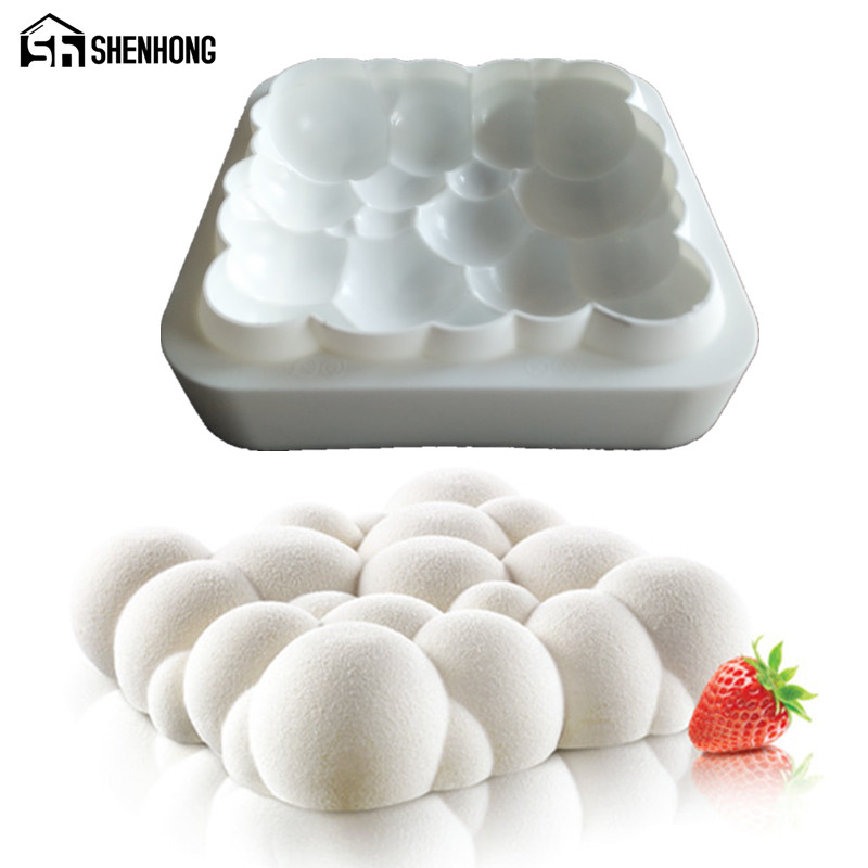 Cake Art Candy Molds : ?1PCS Silicone 3D ?_? Sky Sky Cloud Mold Cake Decorating ? ...